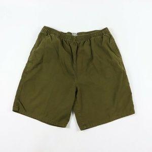 Vintage Gap Casual Chino Cotton Shorts Green Large
